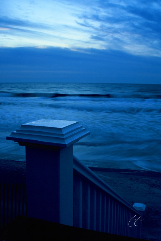 Stair Steam Blue